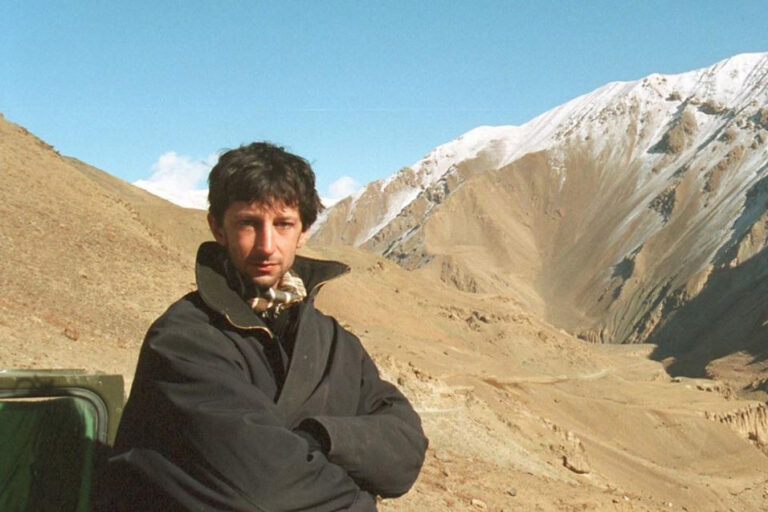 """Itai Anghel photographed in Panjshir in 2001. """"The myth that Afghanistan cannot be controlled comes from Panjshir."""" (Photo: Private Album)"""